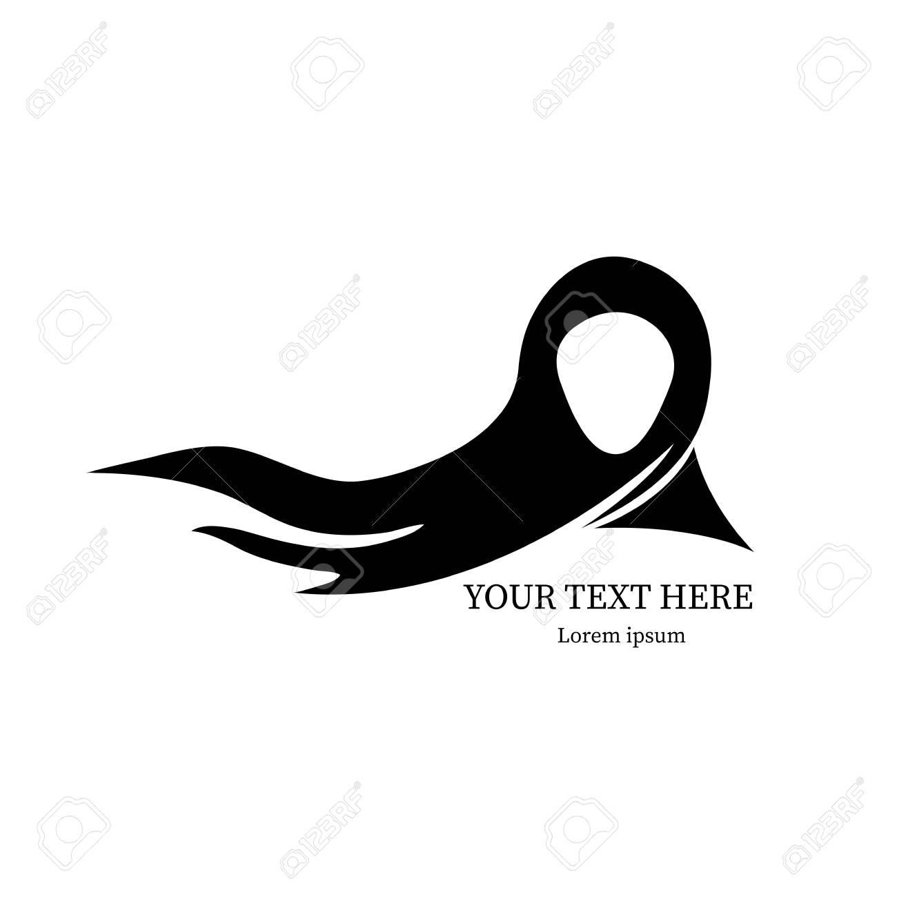 Black Eastern Female Hijab Icon - 113640982
