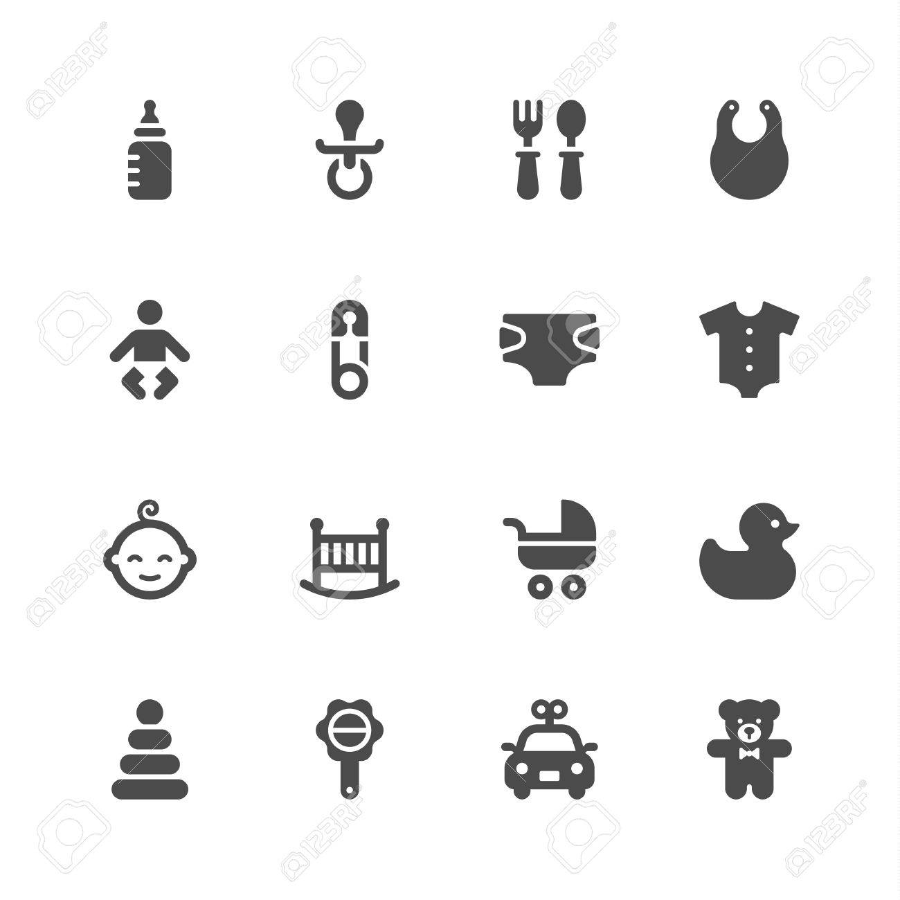 Baby icons Stock Vector - 29674699