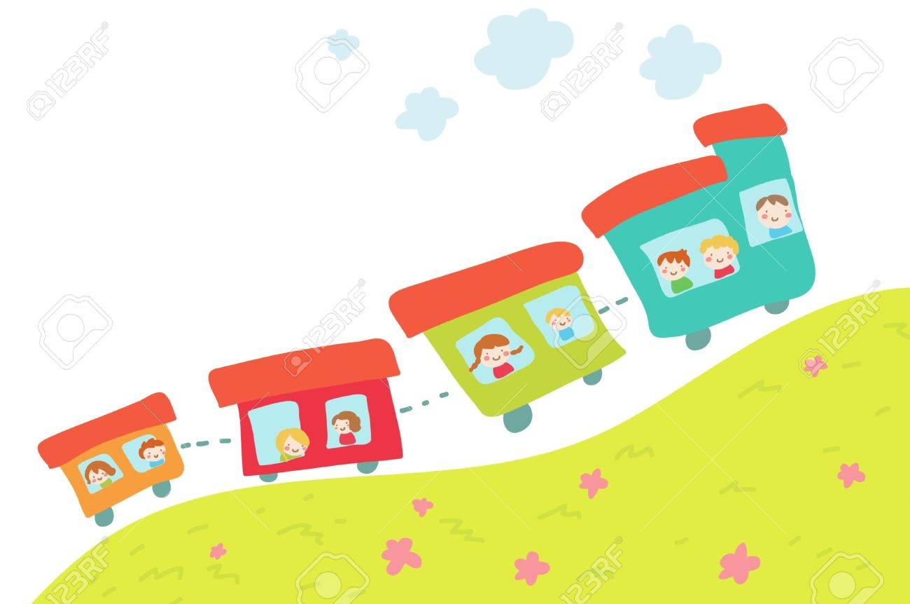 cartoon train on hill royalty free cliparts vectors and stock