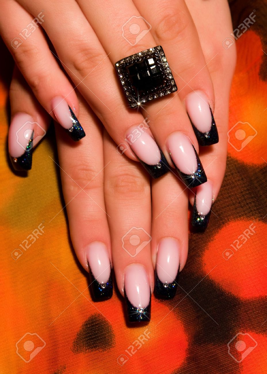 French manicure nails - 15541349
