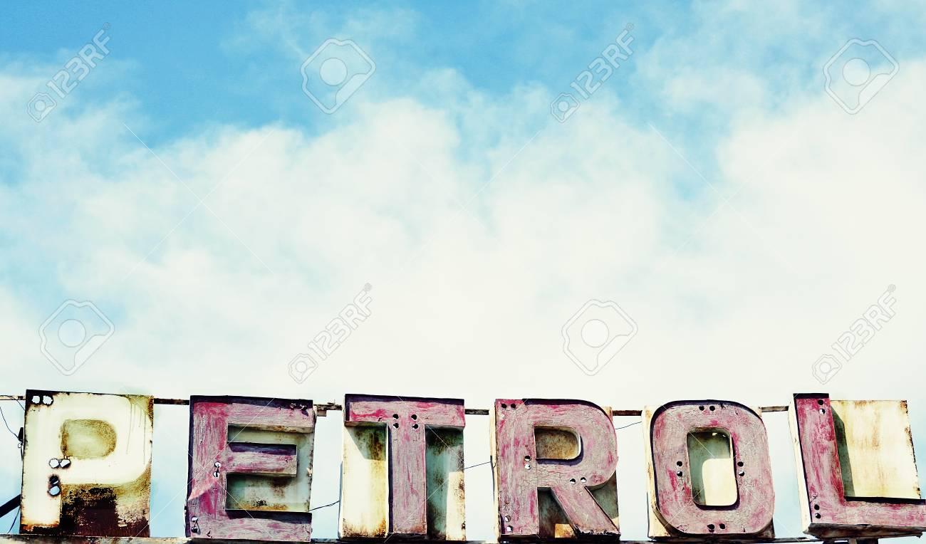 Stock Photo - Vintage old signboard