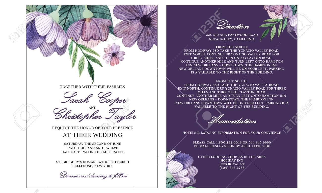 Wedding Invitation Card Template - 54532015