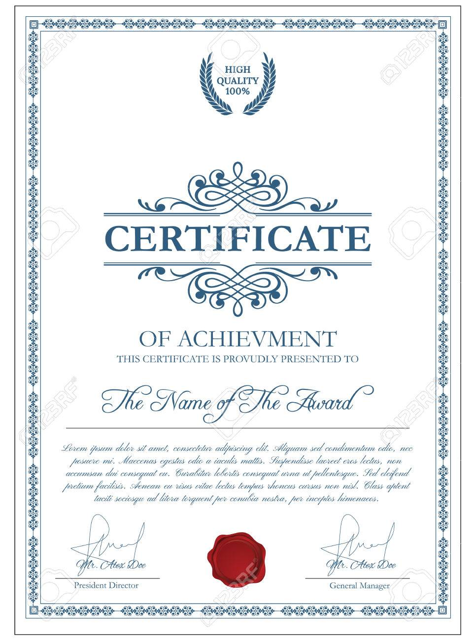 Share certificate template share certificate template word share share certificate template bill of free notice to vacate 56966857 certificate template with guilloche elements blue xflitez Choice Image