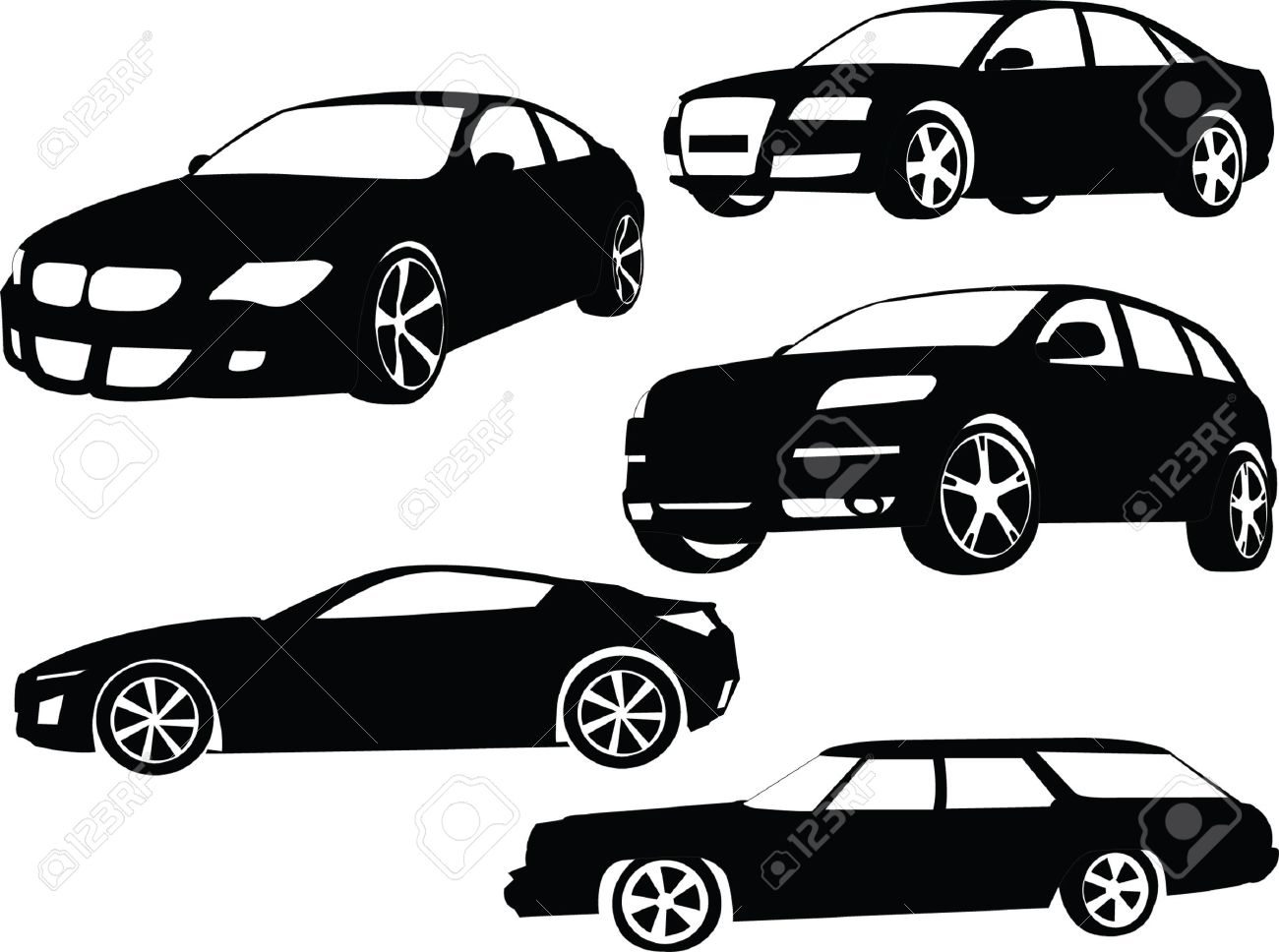 cars collection 2 - vector Stock Vector - 5073430