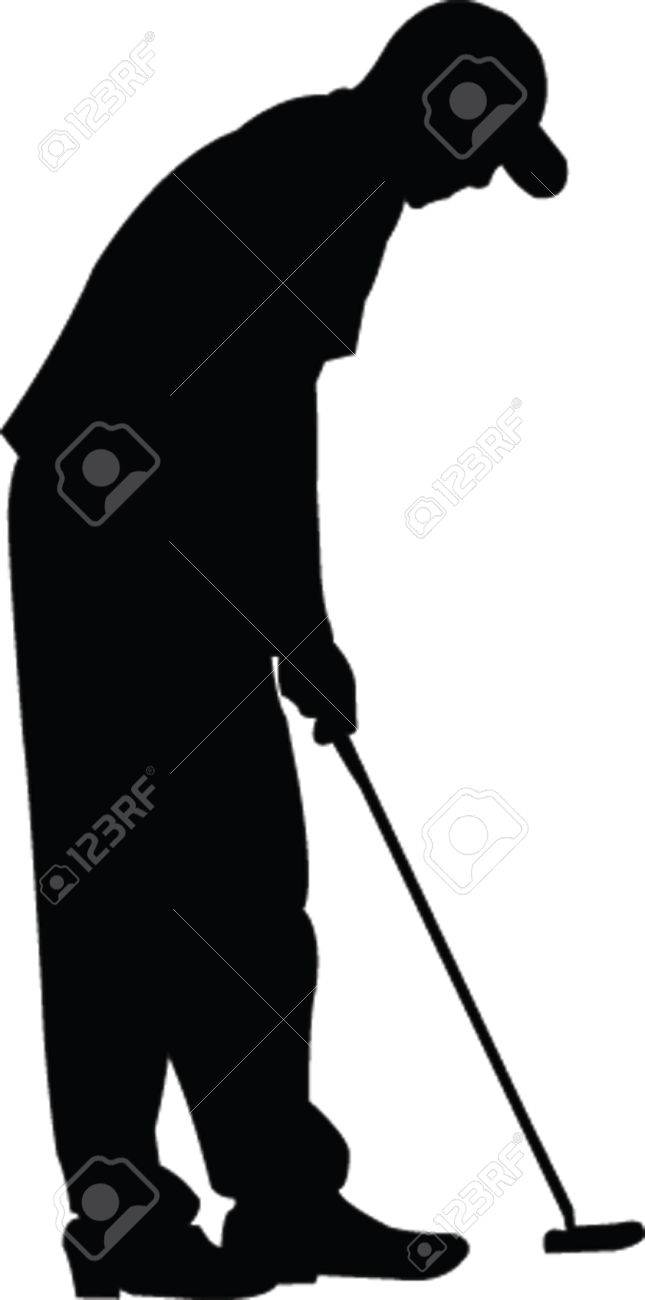 Golfer Silhouette Vector Royalty Free Cliparts Vectors And Stock