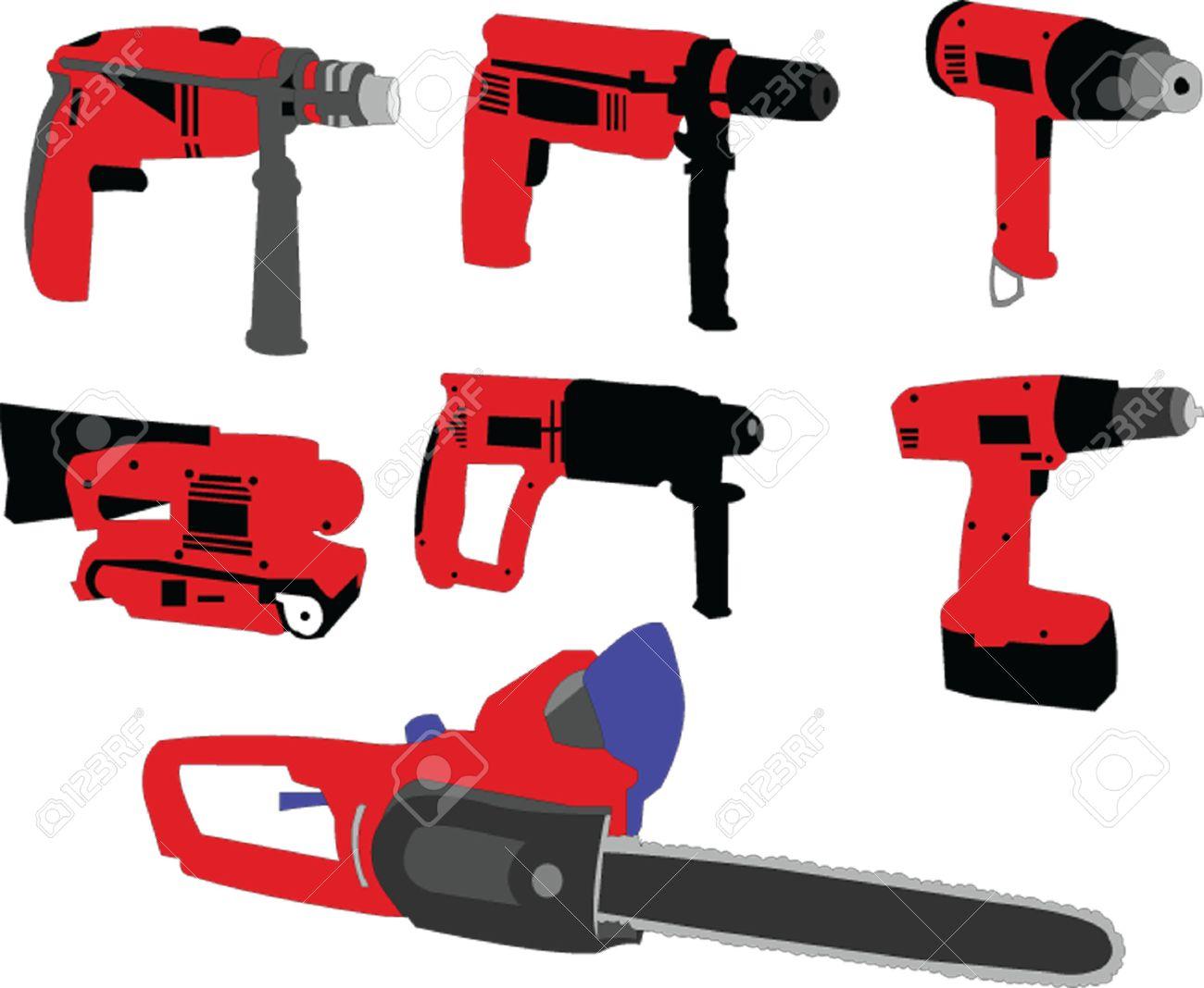 electric tools - vector Stock Vector - 8119147