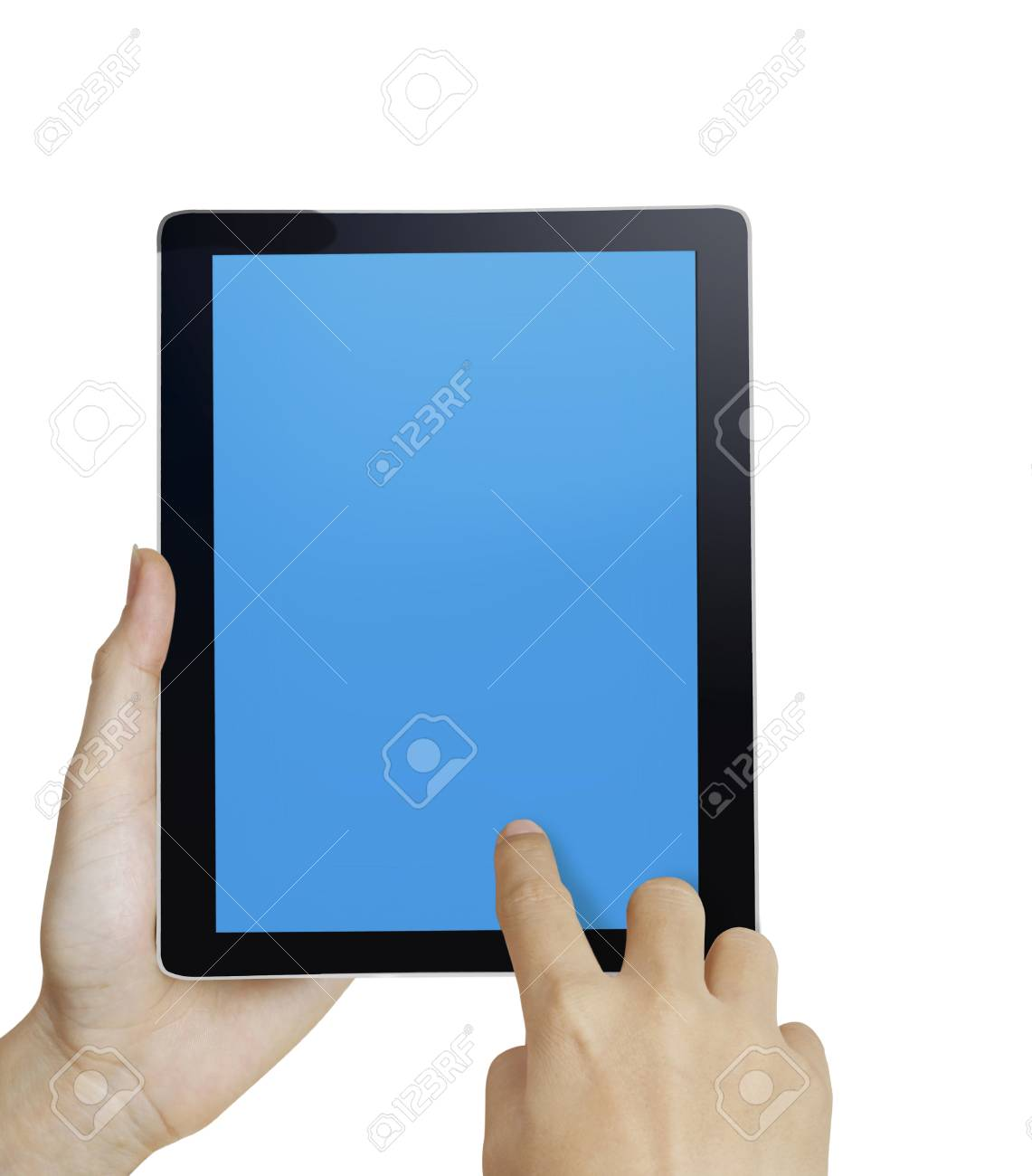 hand holding a touchpad pc Stock Photo - 9670446