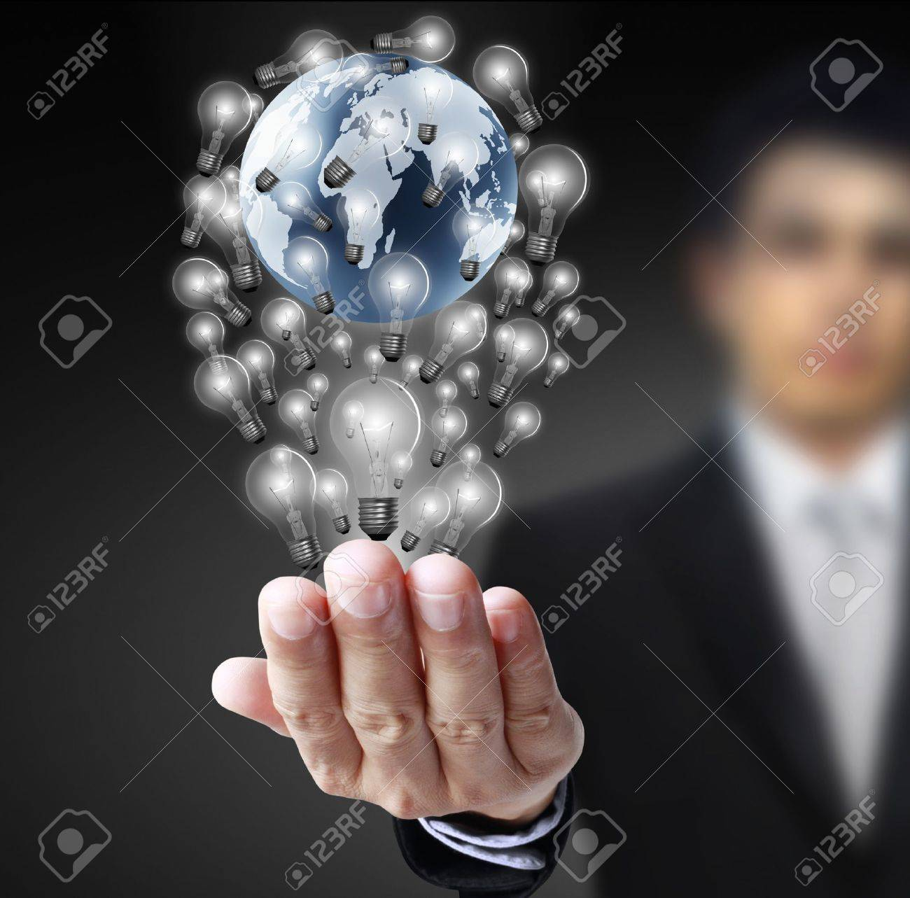 earth globe in his hands Stock Photo - 10046722