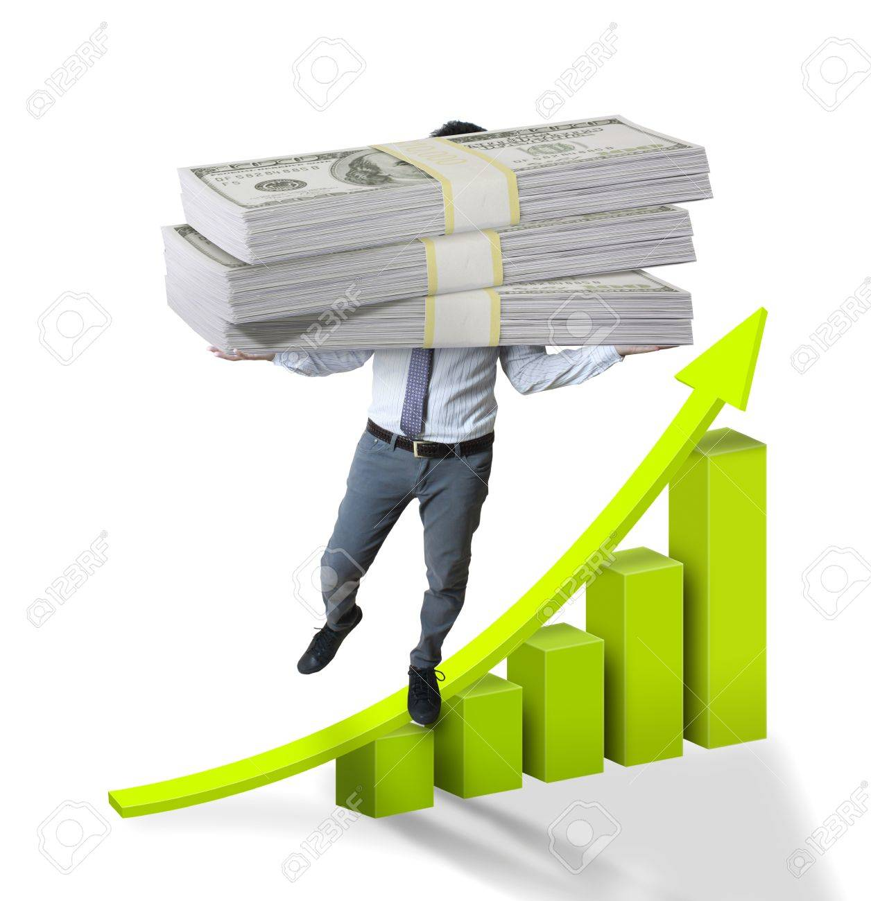 Business and dollars Stock Photo - 10046693