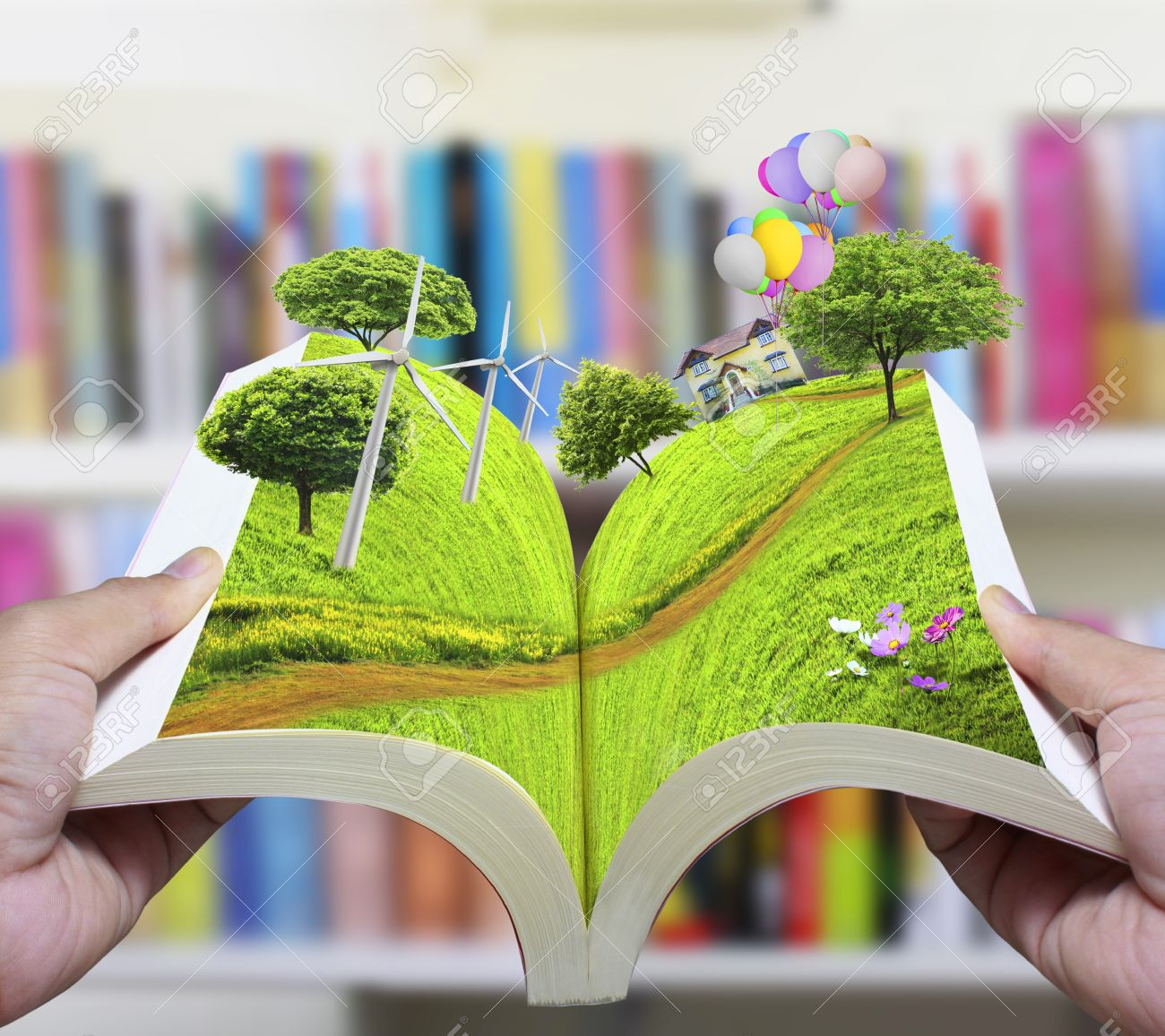 Open Book Of Nature Stock Phot...