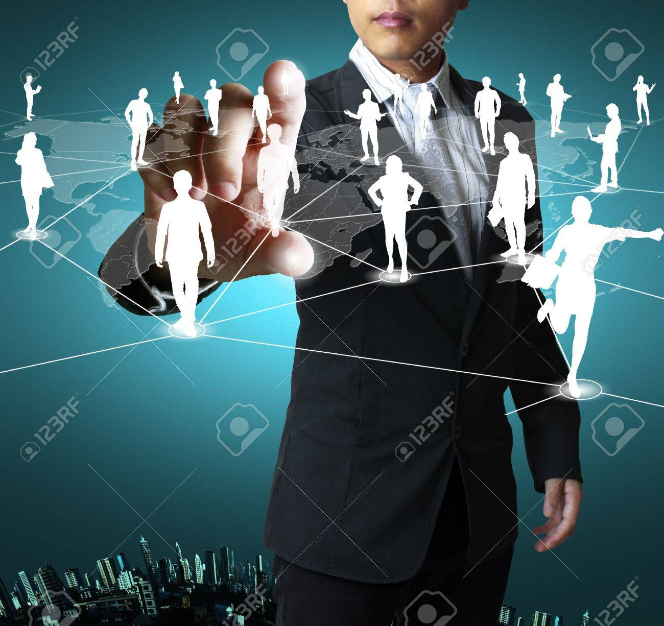 social network structure Stock Photo - 11236595