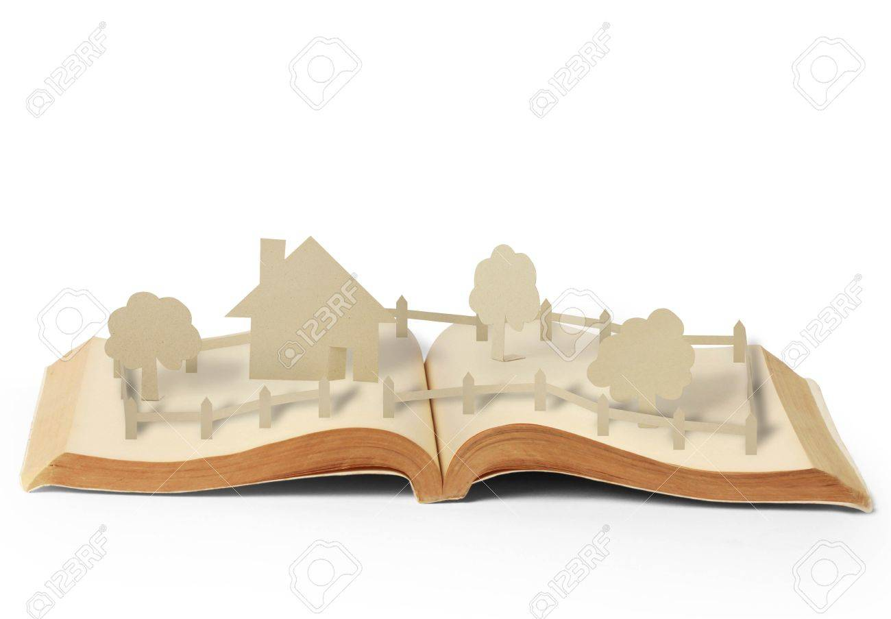 open book of fantasy stories on wood Stock Photo - 13230166