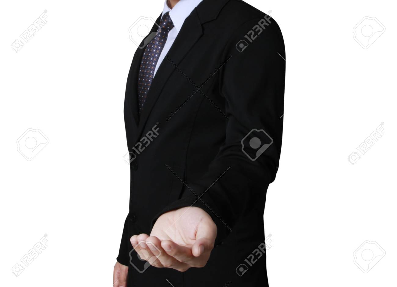Open palm hand gesture of male hand Stock Photo - 20232206
