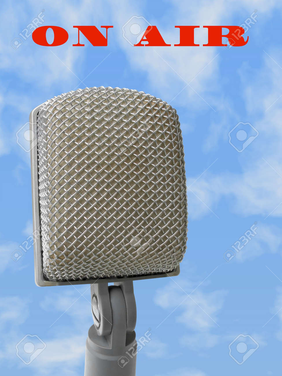 Microphone - on air, file contain clipping path for mike Stock Photo - 736536
