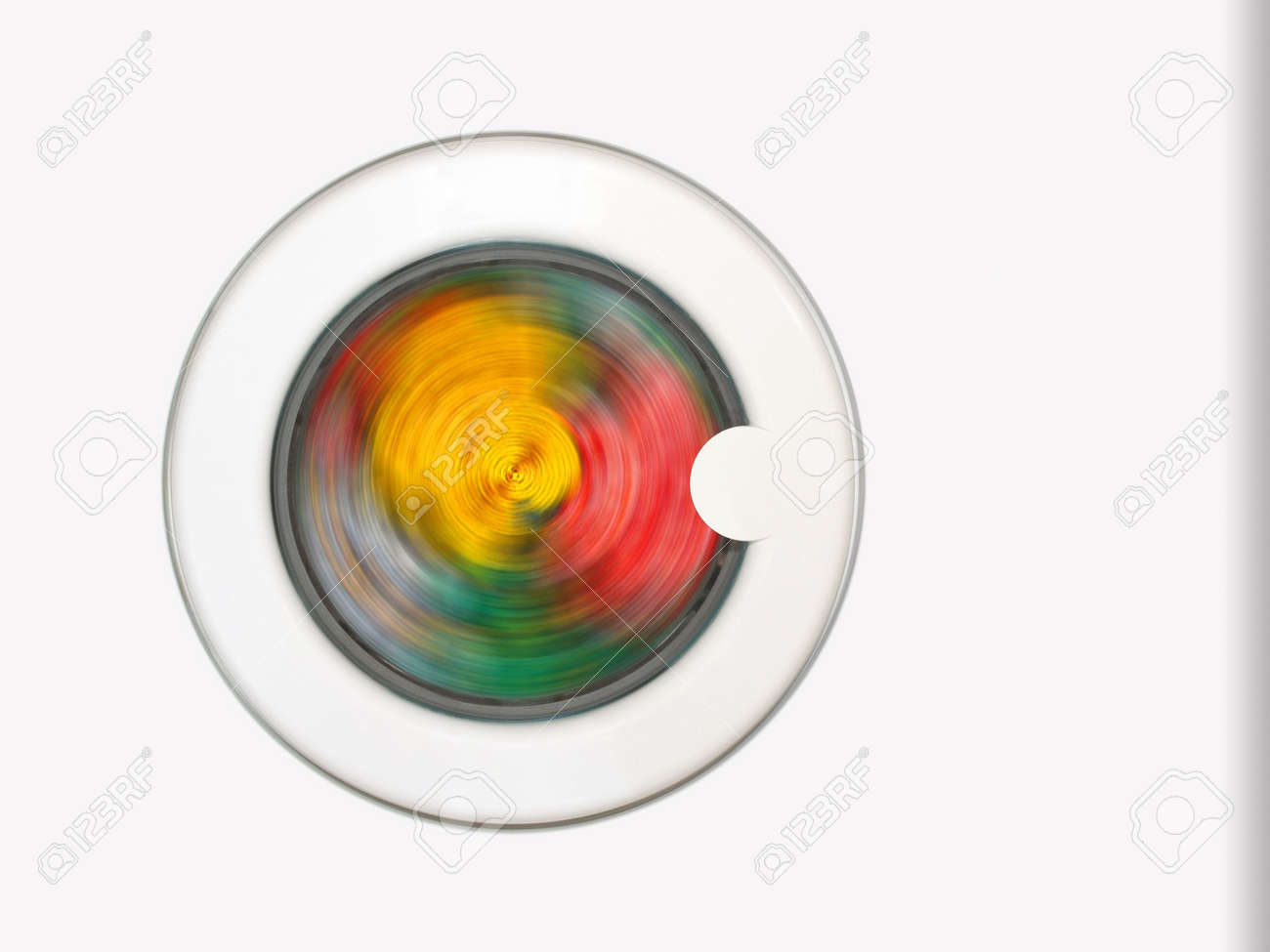 Colorful clothing in washing machine Stock Photo - 769442