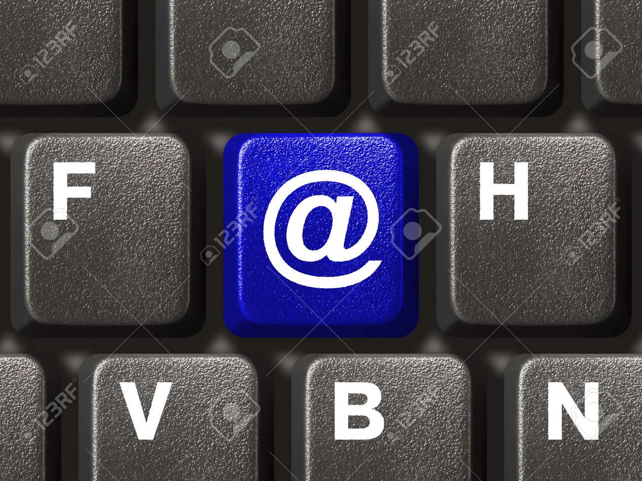Computer keyboard with e-mail key Stock Photo - 2360921