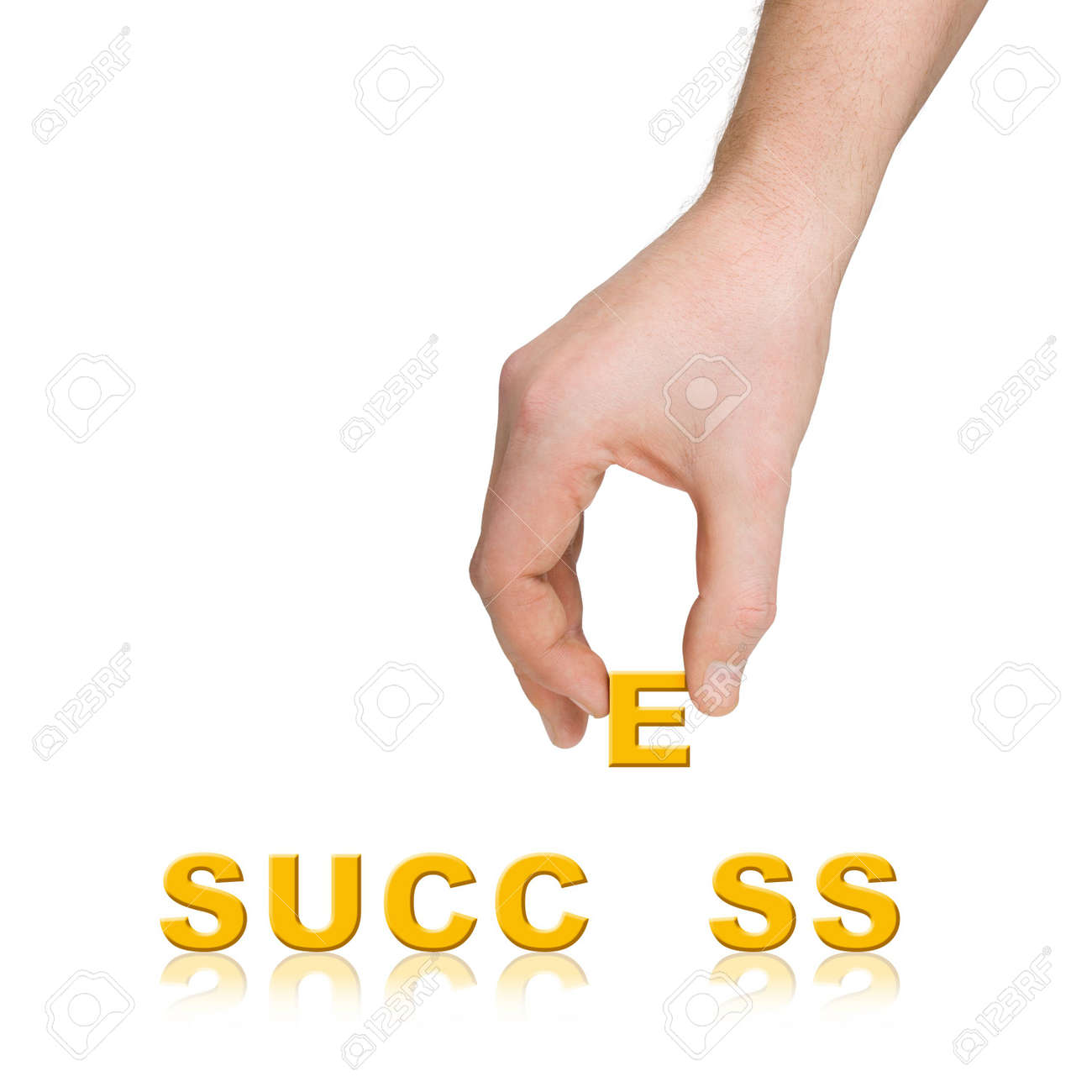 Hand and word Success, business concept, isolated on white background Stock Photo - 2472421