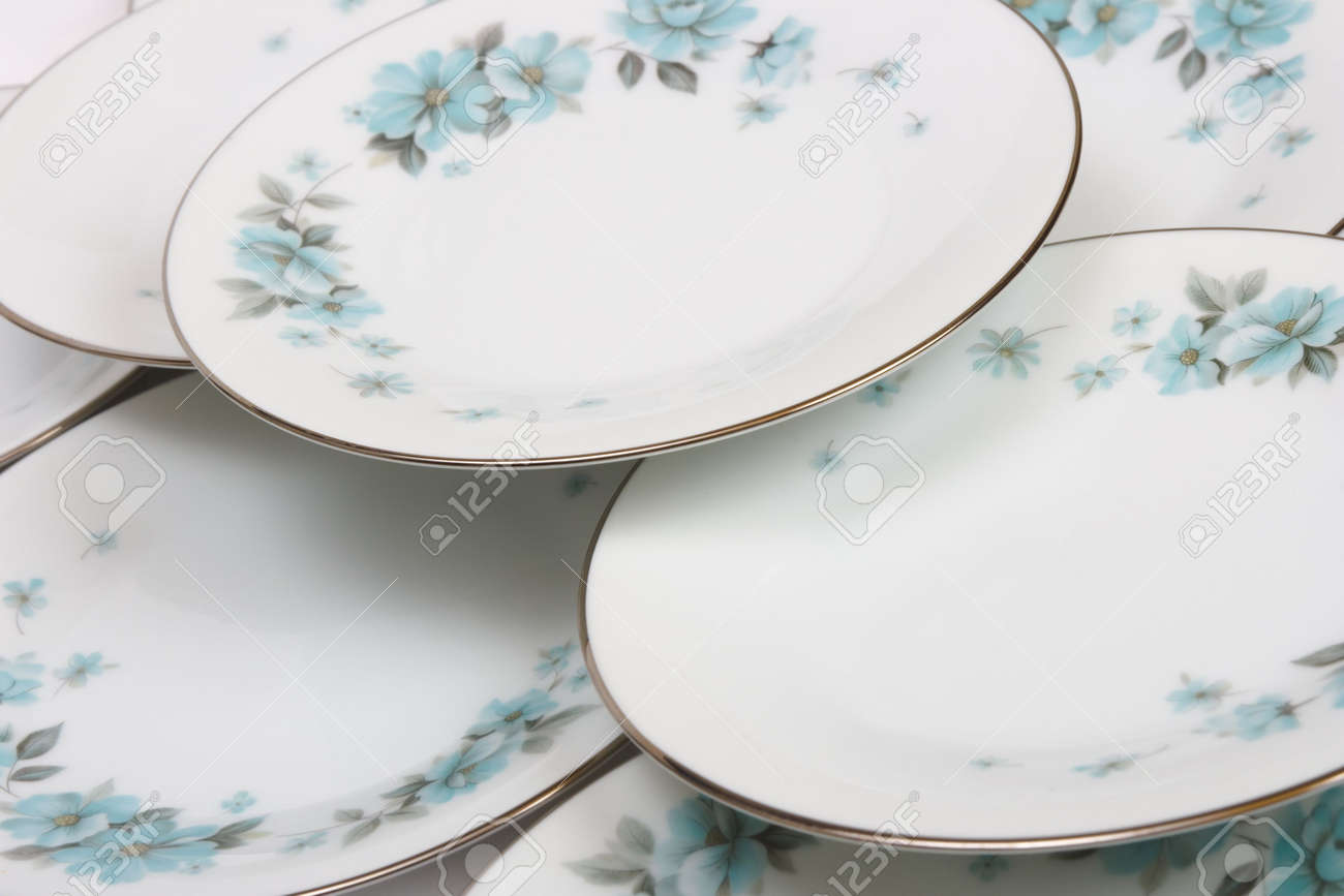 Plates with pattern, abstract food background Stock Photo - 2472422