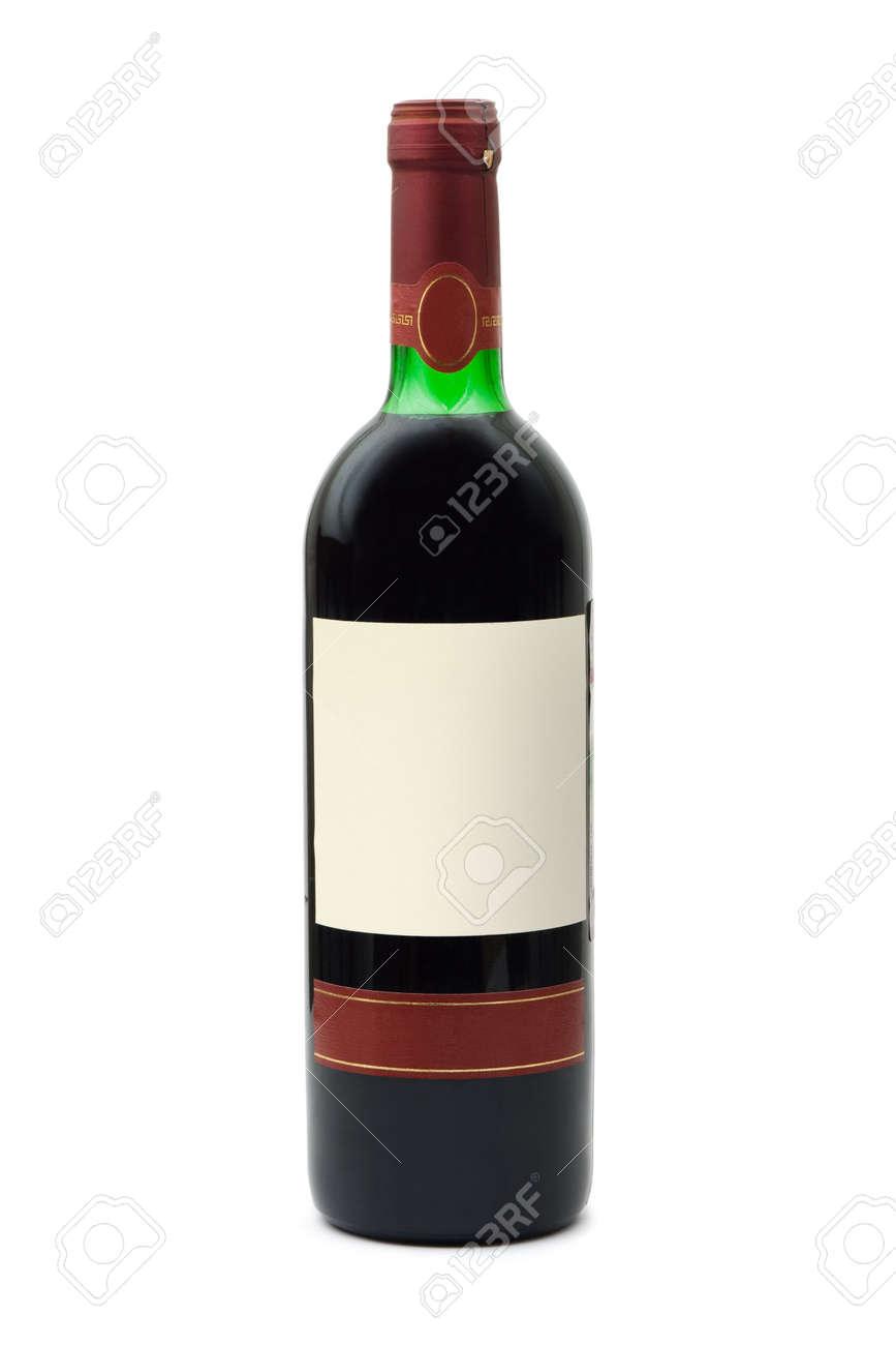Beautiful Bouteille De Vin Vide #12: Banque Du0027images - Bouteille De Vin Vide Avec étiquette, Isolé Sur Fond Blanc