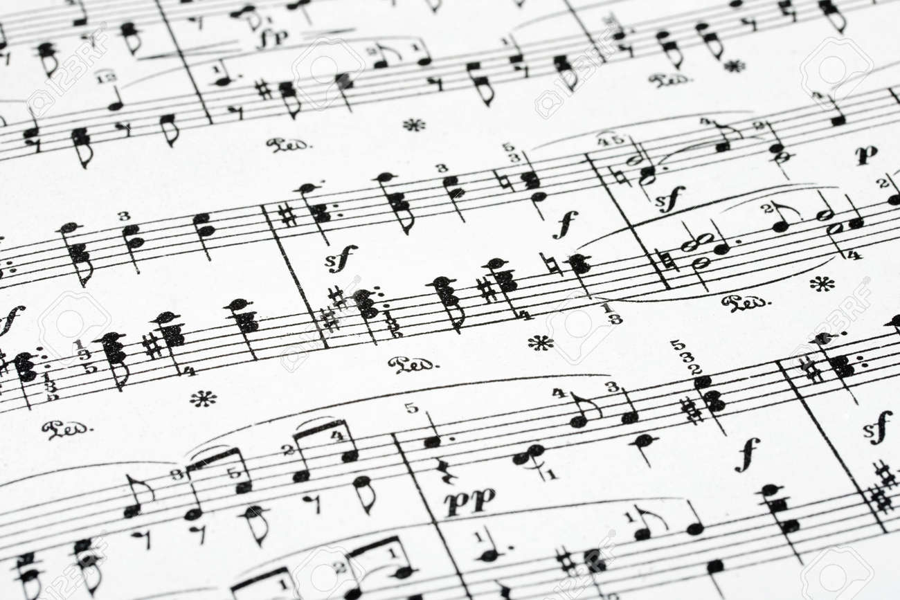 Music sheet - abstract art background Stock Photo - 3466243