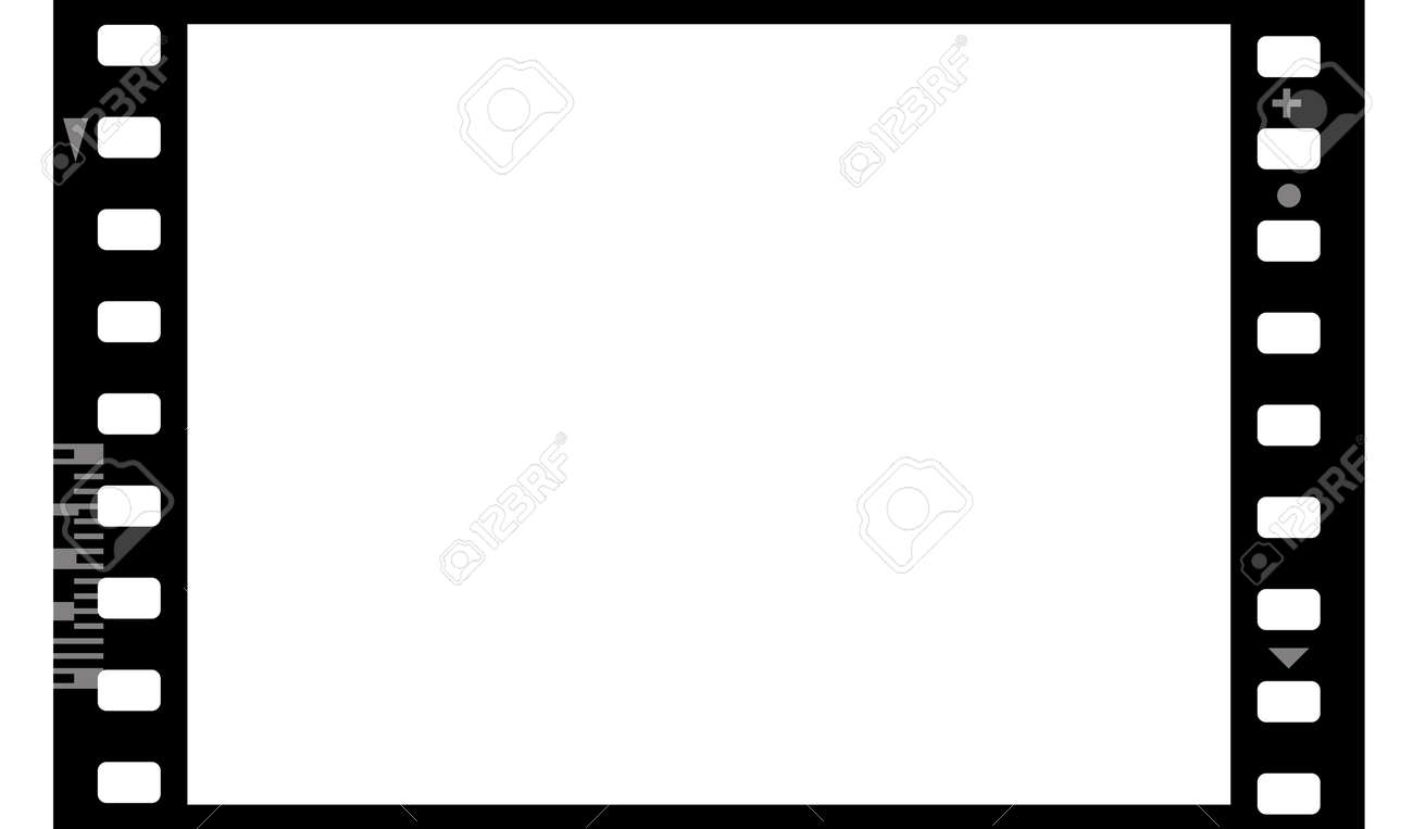 Frame of photographic film (seamless) isolated on white background Stock Photo - 6091429