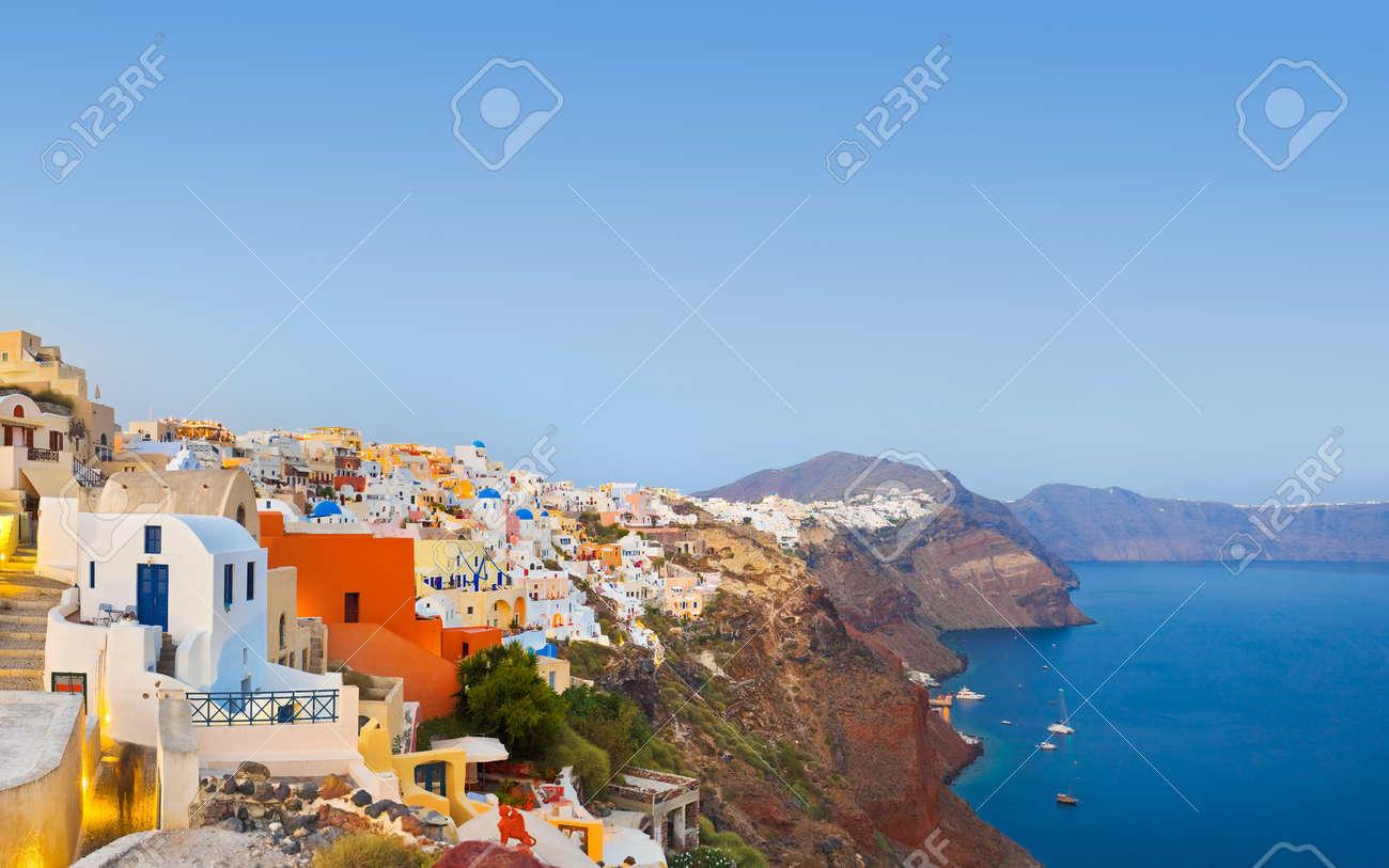 Santorini sunset (Oia) - Greece vacation background Stock Photo - 8053245