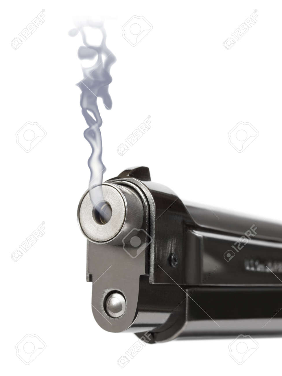 Smoking gun - isolated on white background Stock Photo - 8691007