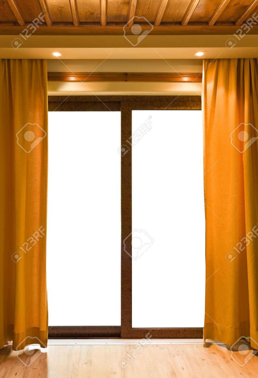 Hotel room and blank window - vacation concept background Stock Photo - 9368942