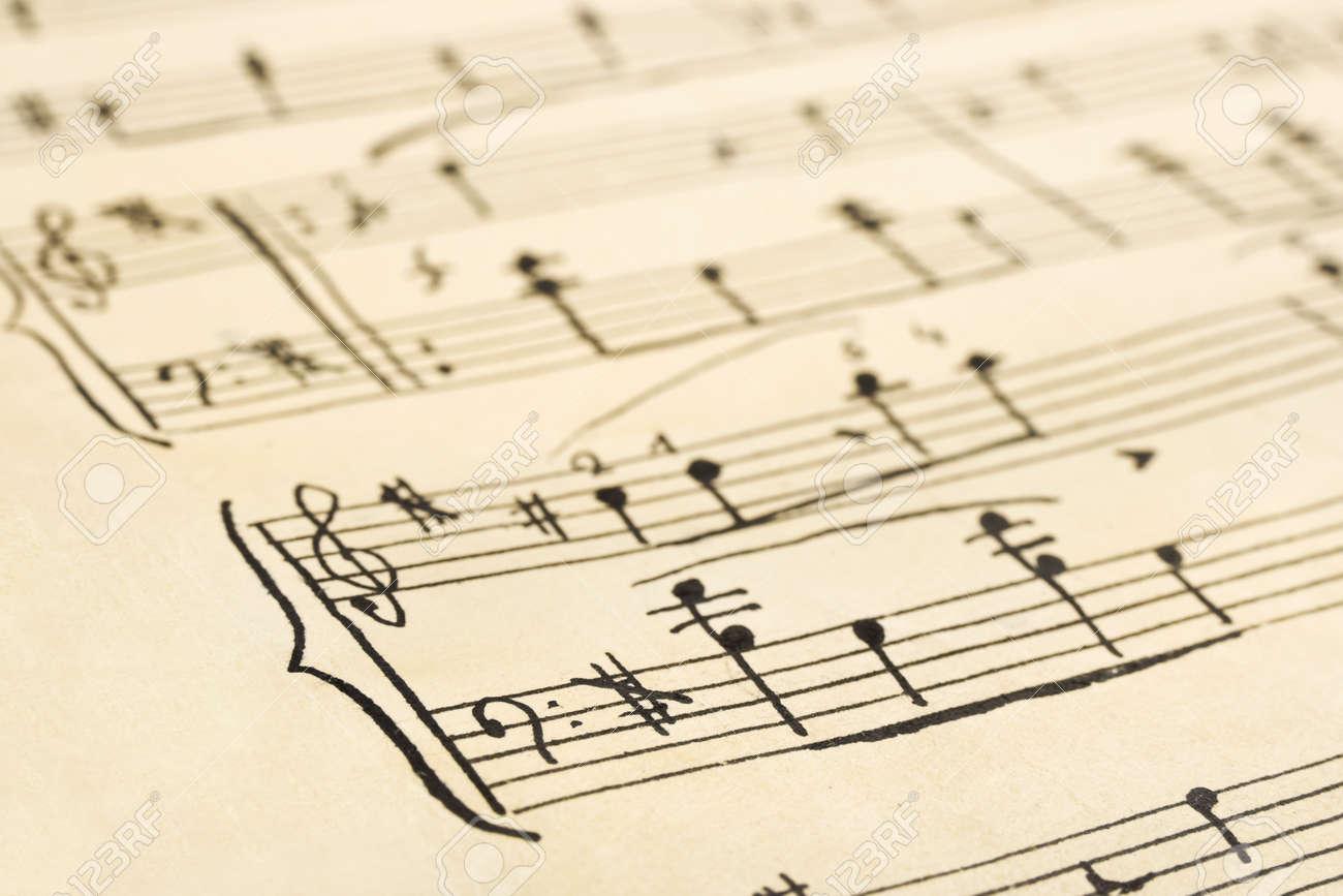 Handwritten Music Retro Handwritten Music Sheet