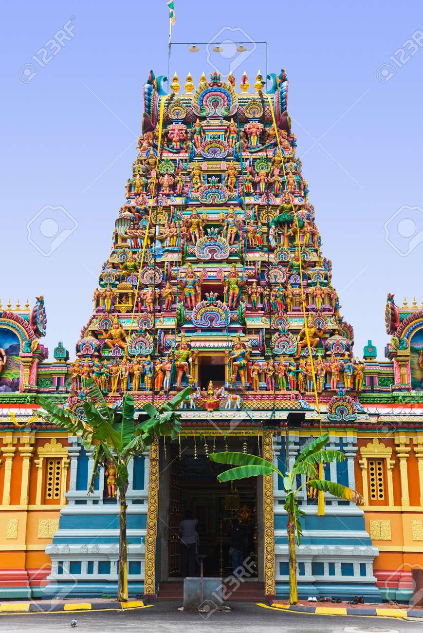 Hindu Temple At Kuala Lumpur Malaysia Religion Symbol Stock Photo