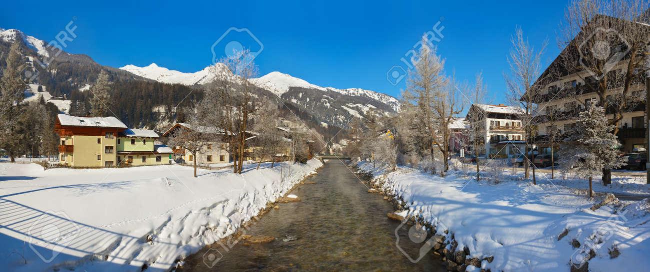Mountains ski resort Bad Hofgastein Austria - nature and architecture background Stock Photo - 16532866