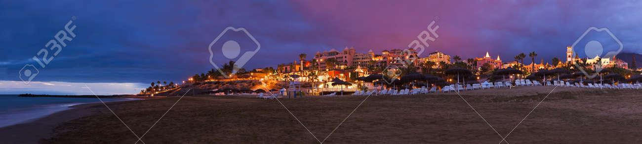 Beach Las Americas in Tenerife island - Canary Spain - 23121114