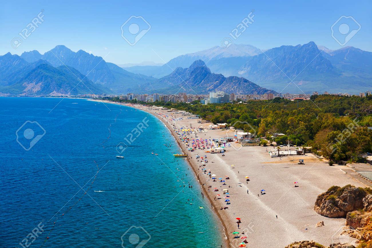 Beach at Antalya Turkey - travel background - 40592490