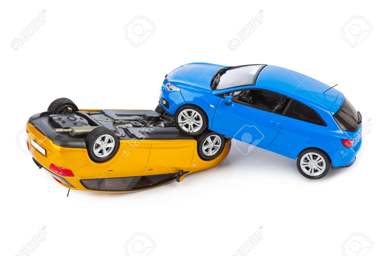 Crash Toy Cars Isolated On White Background Stock Photo Picture And