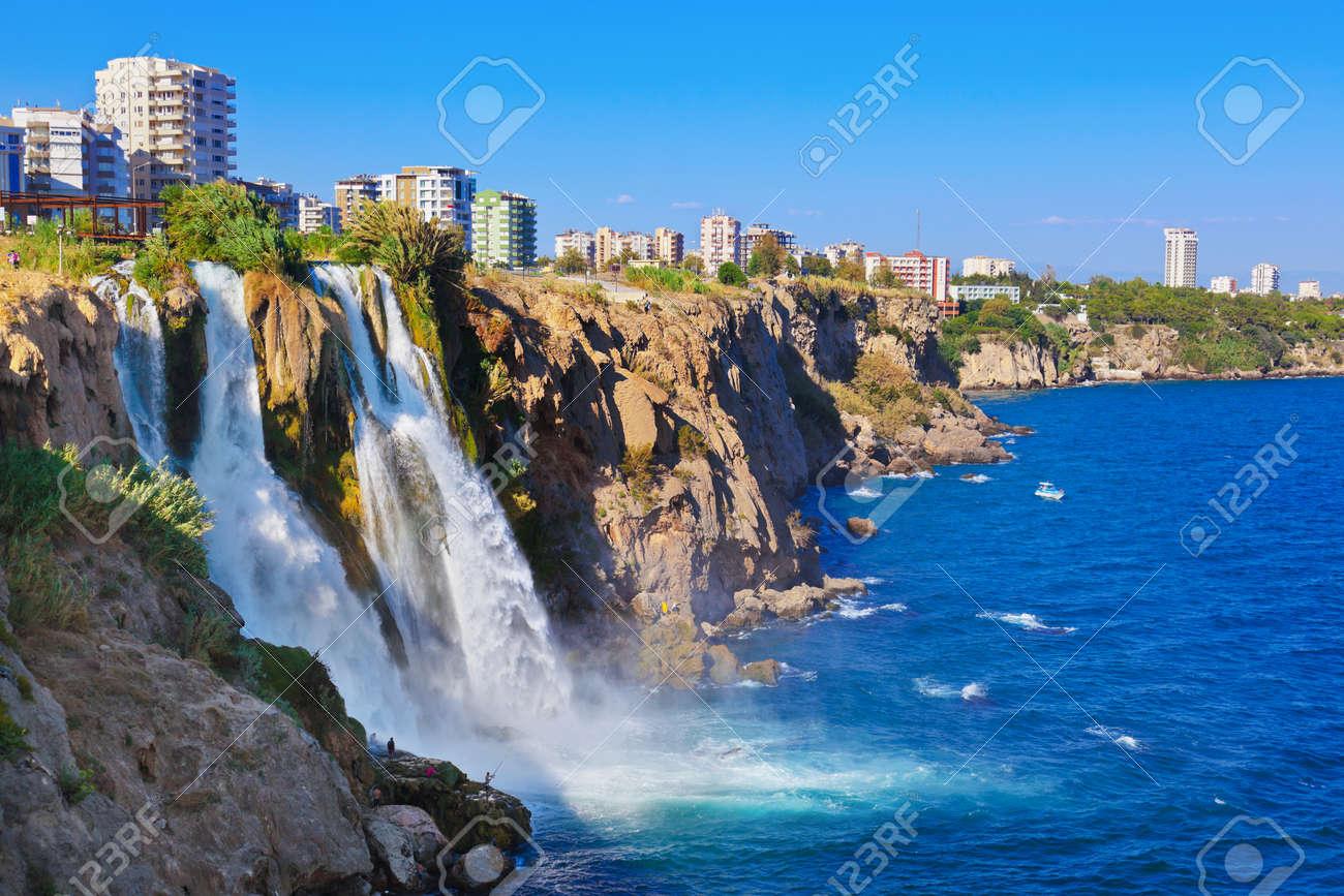 Waterfall Duden at Antalya, Turkey - nature travel background - 41454913