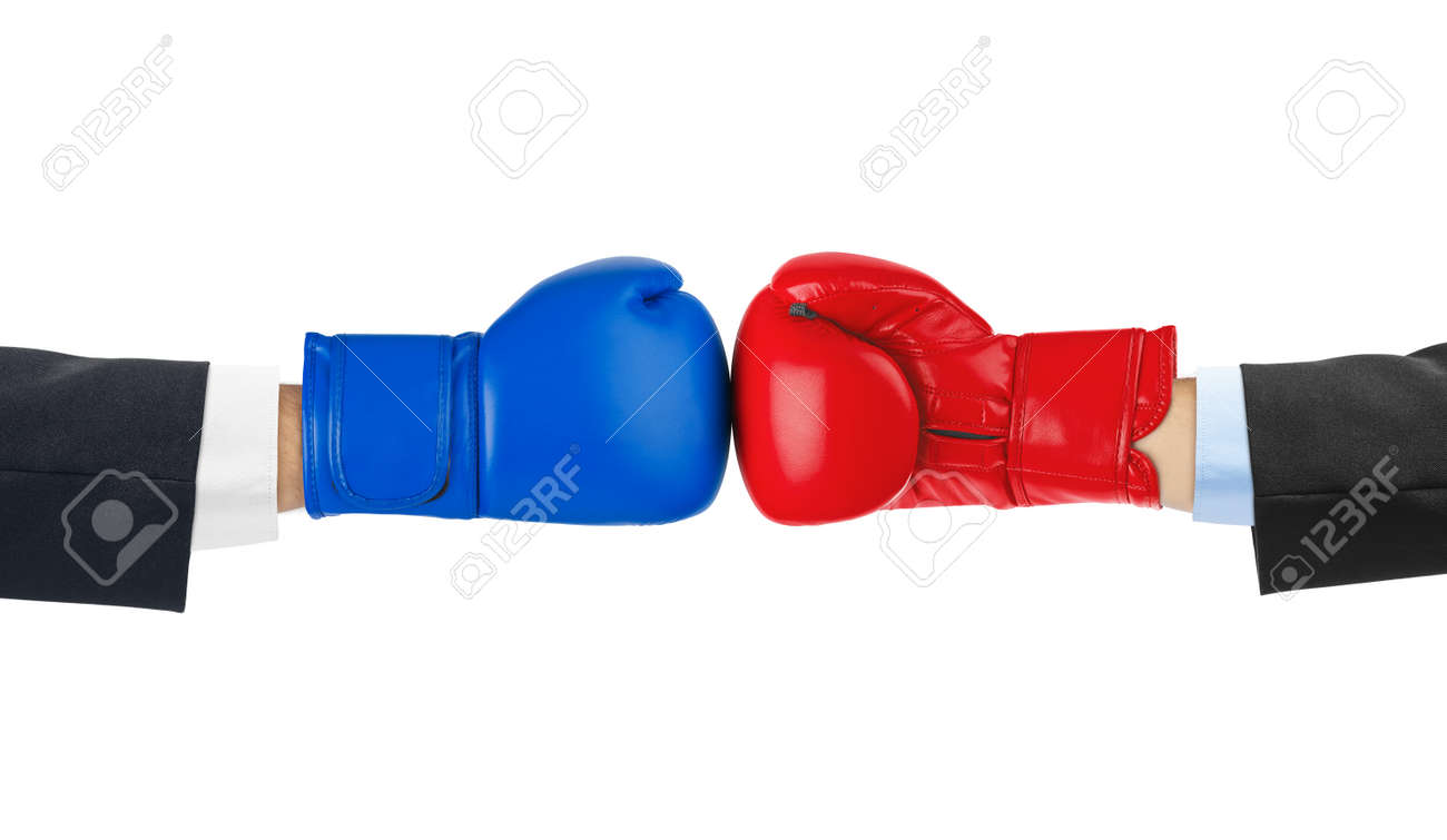 Boxing gloves isolated on white background - 43524402