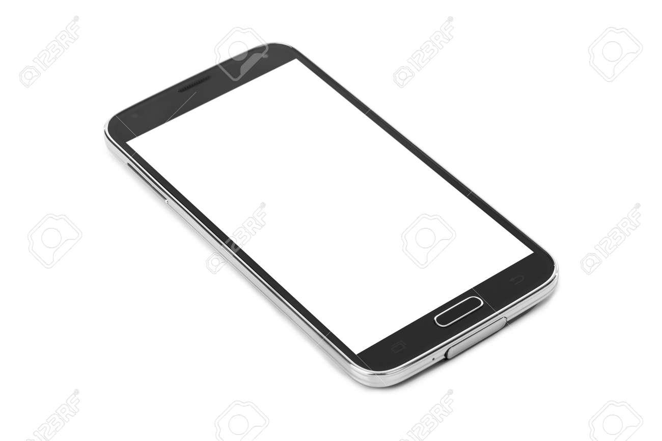 Smartphone isolated on white background - 46637518