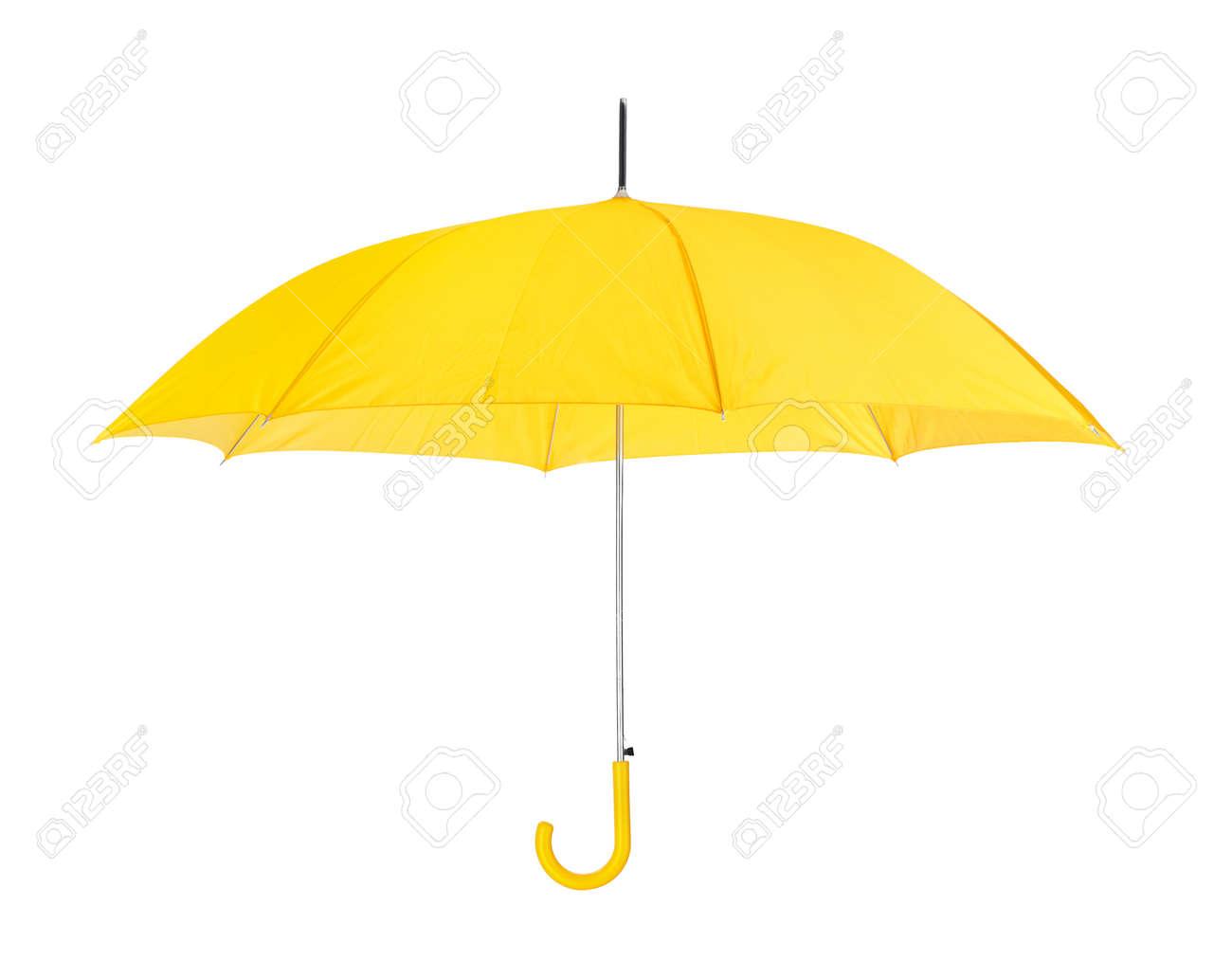 Opened umbrella isolated on white background - 46637784