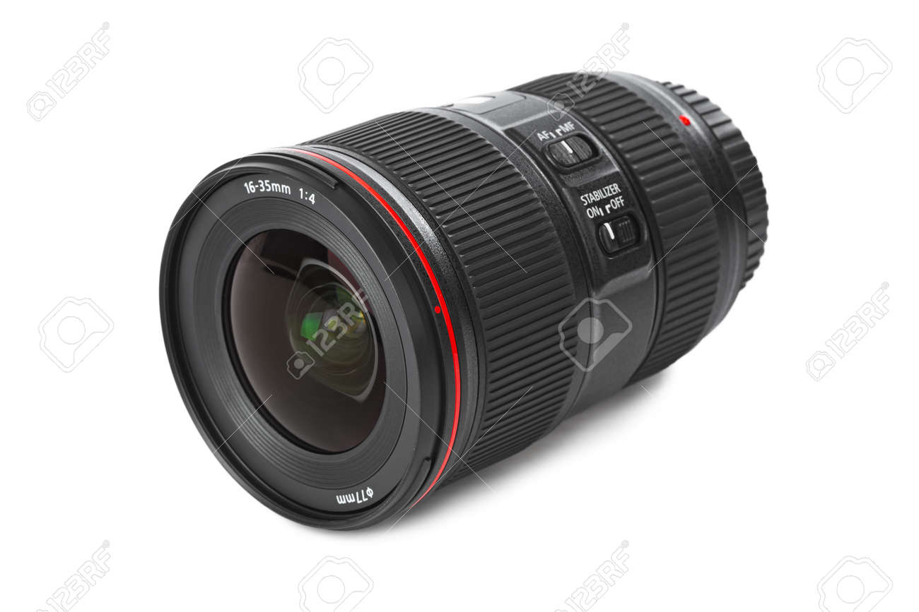 Camera Lens isolated on white background - 46637793