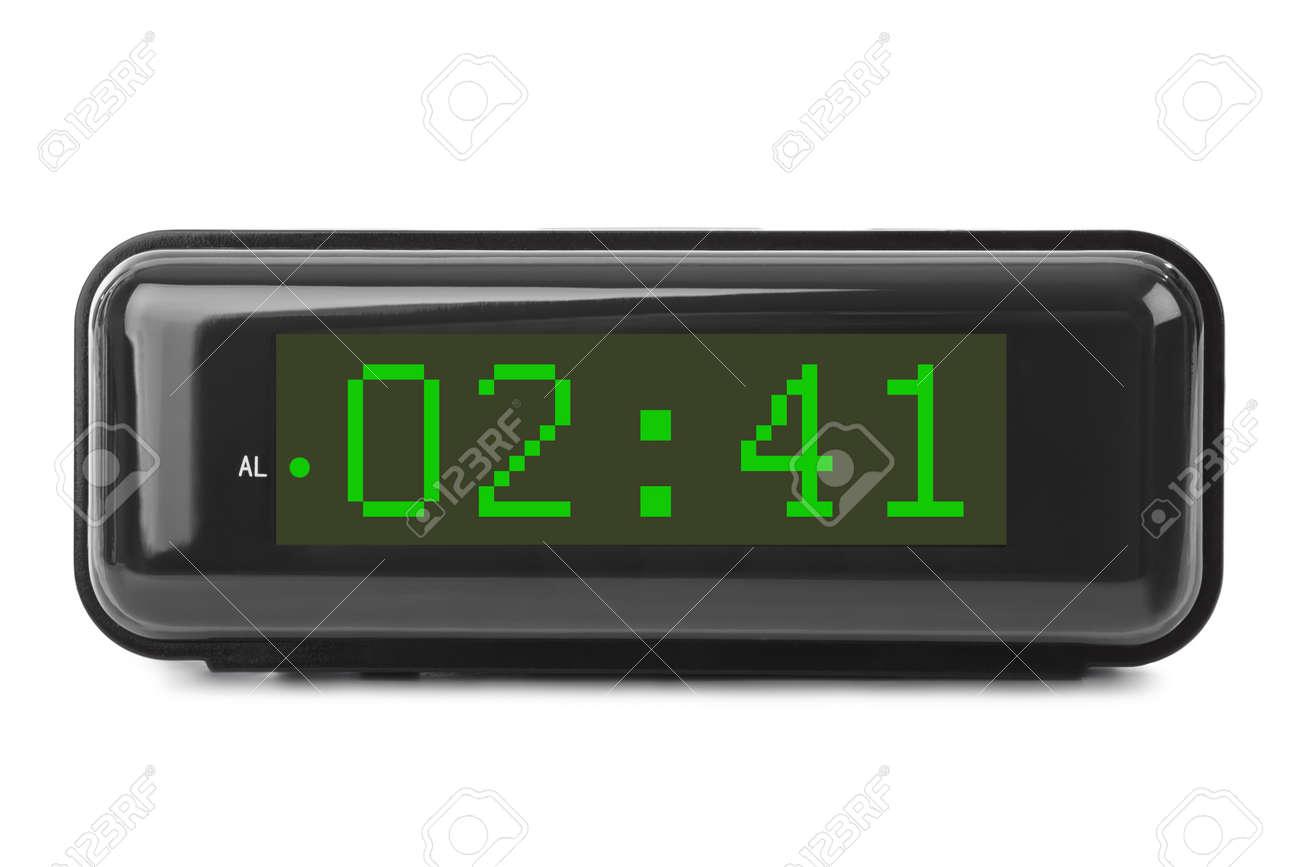 Digital clock isolated on white background - 46641500