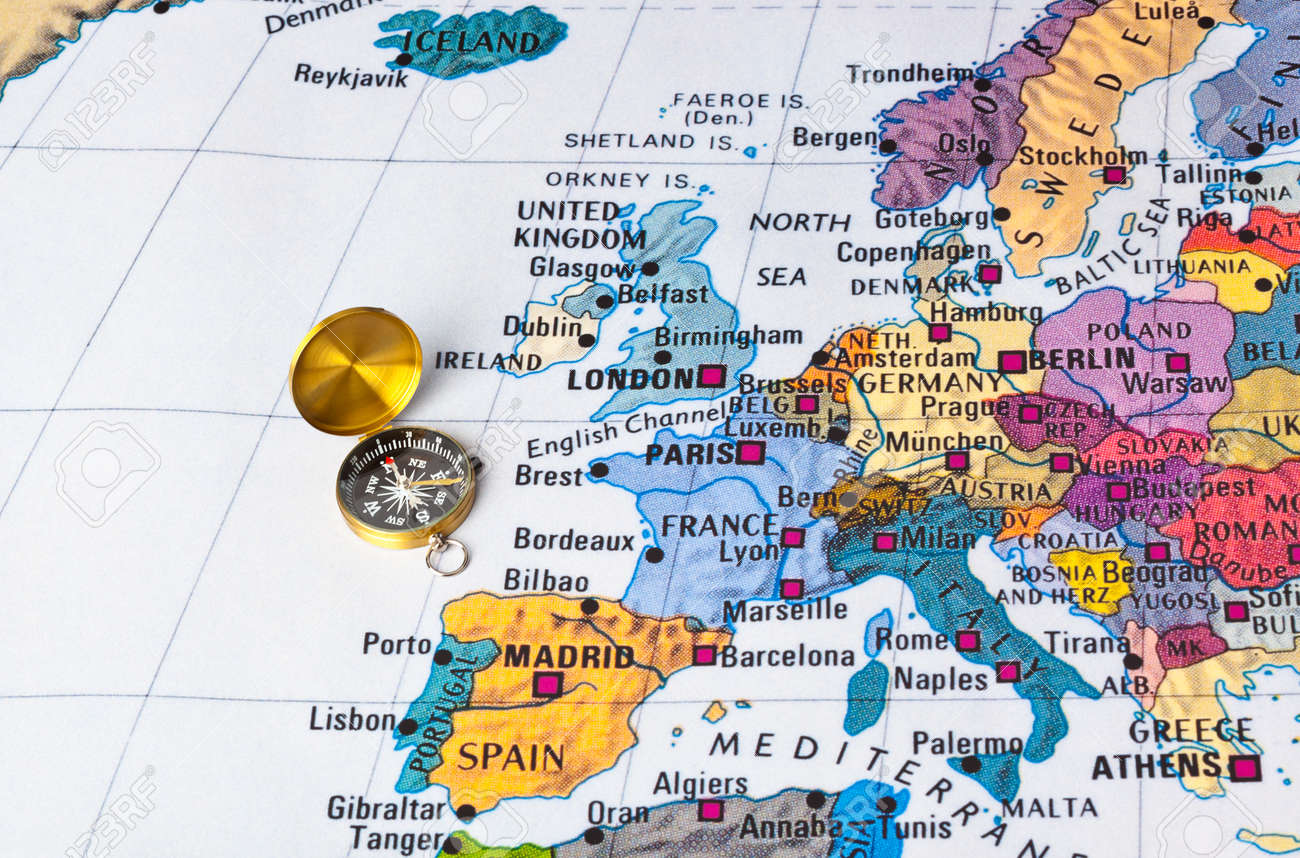 Europe map and compass travel background stock photo picture and europe map and compass travel background stock photo 47104298 publicscrutiny Image collections