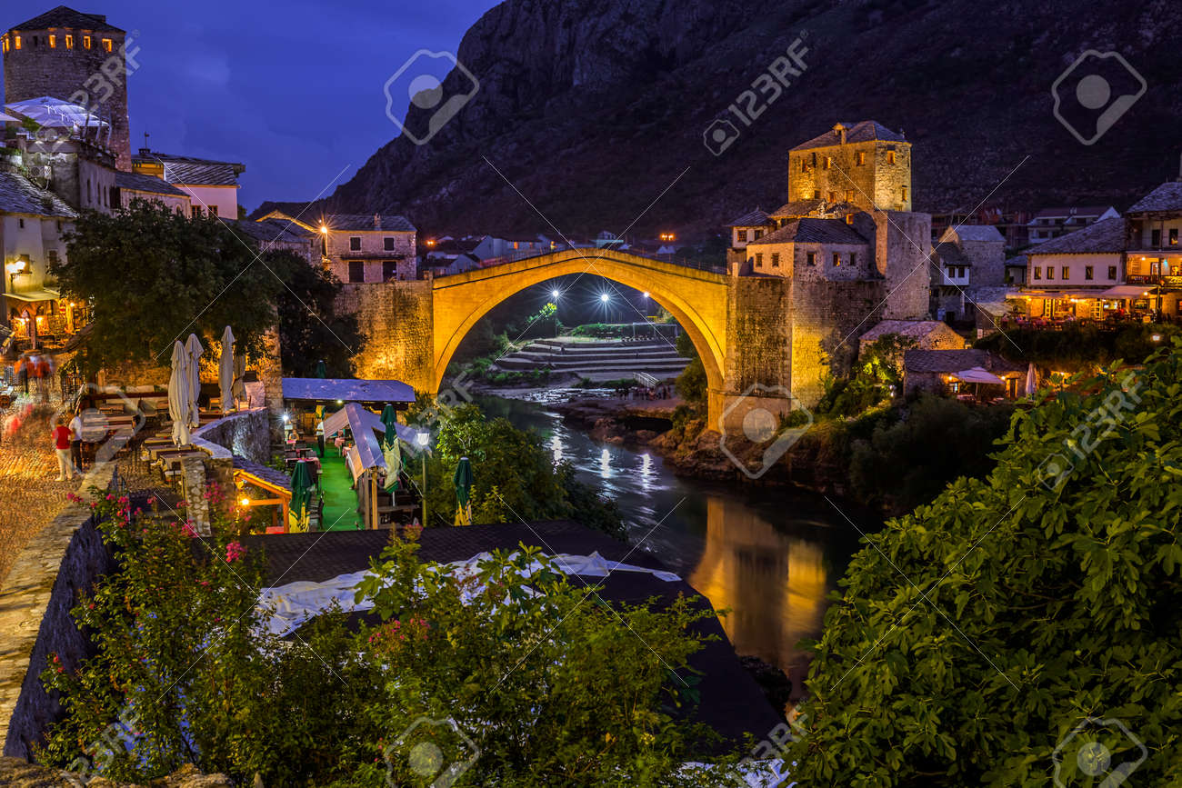 Old Bridge in Mostar - Bosnia and Herzegovina - architecture travel background - 47688402