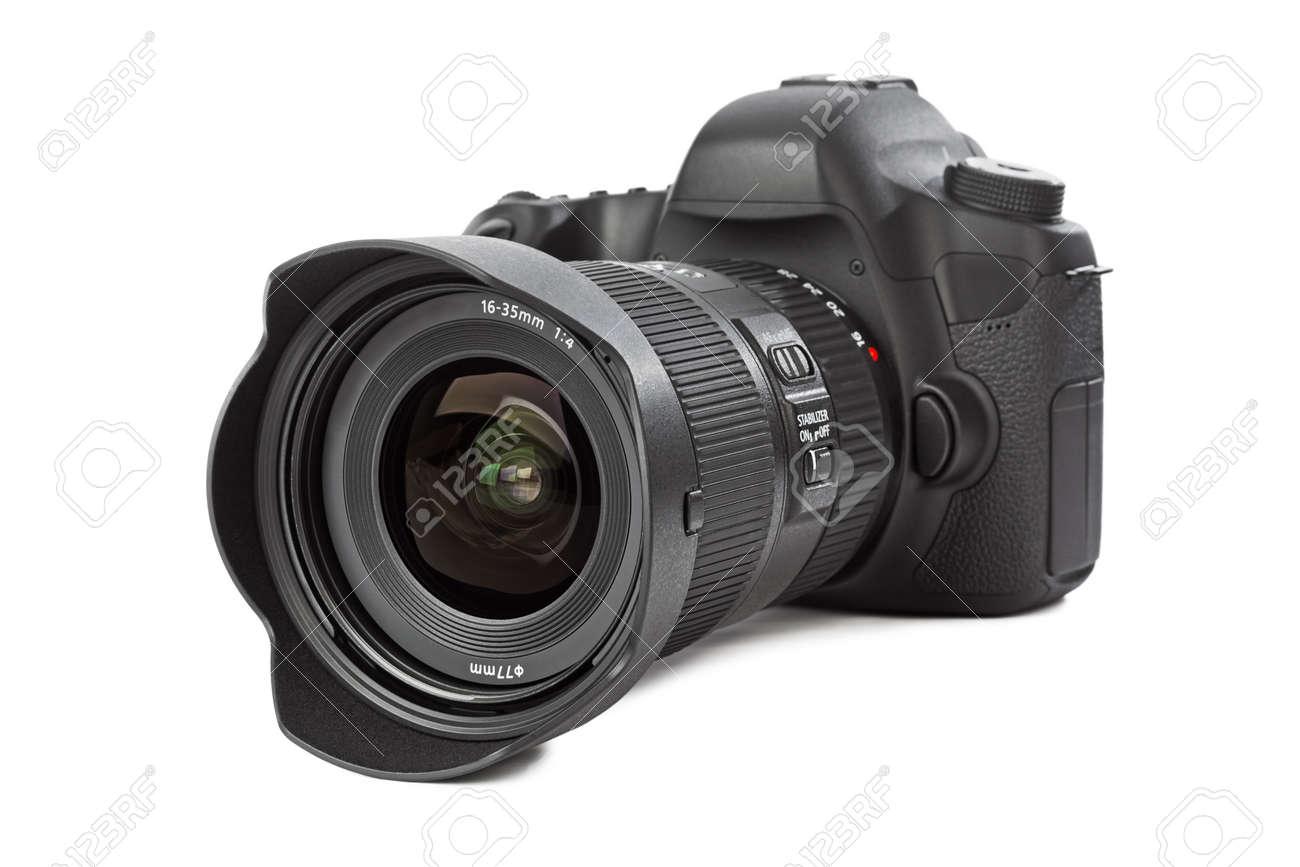 Photo camera isolated on white background - 48419580