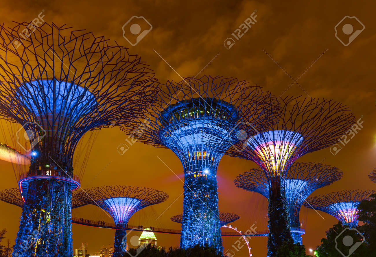 Park Gardens By The Bay In Singapore - Nature And Travel Background ...