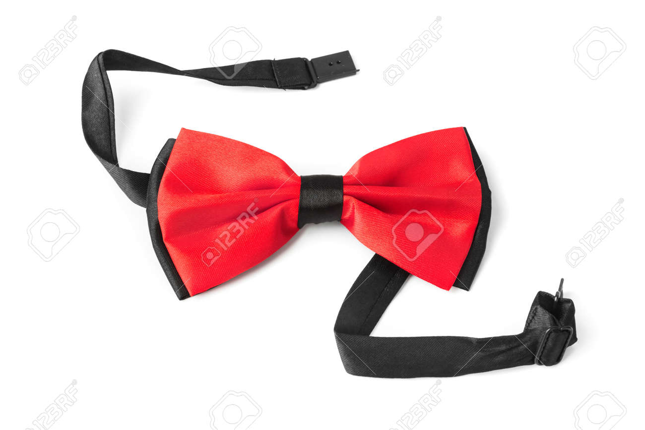 103894a8 Red Bow Tie Isolated On White Background Stock Photo, Picture And ...