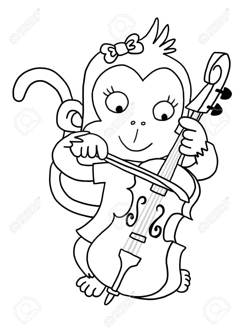Cello coloring page