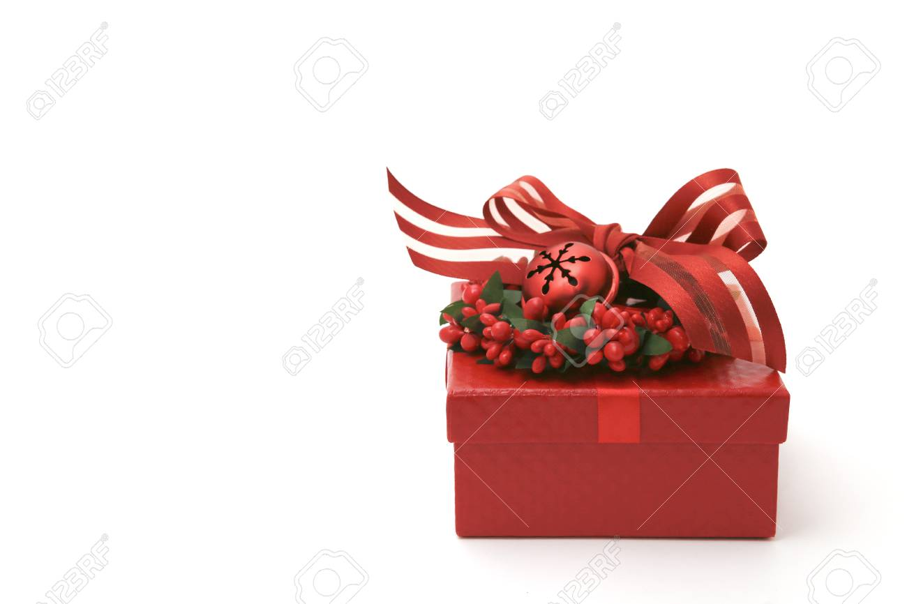 Nicely Decorated Small Birthday Gift Box Stock Photo