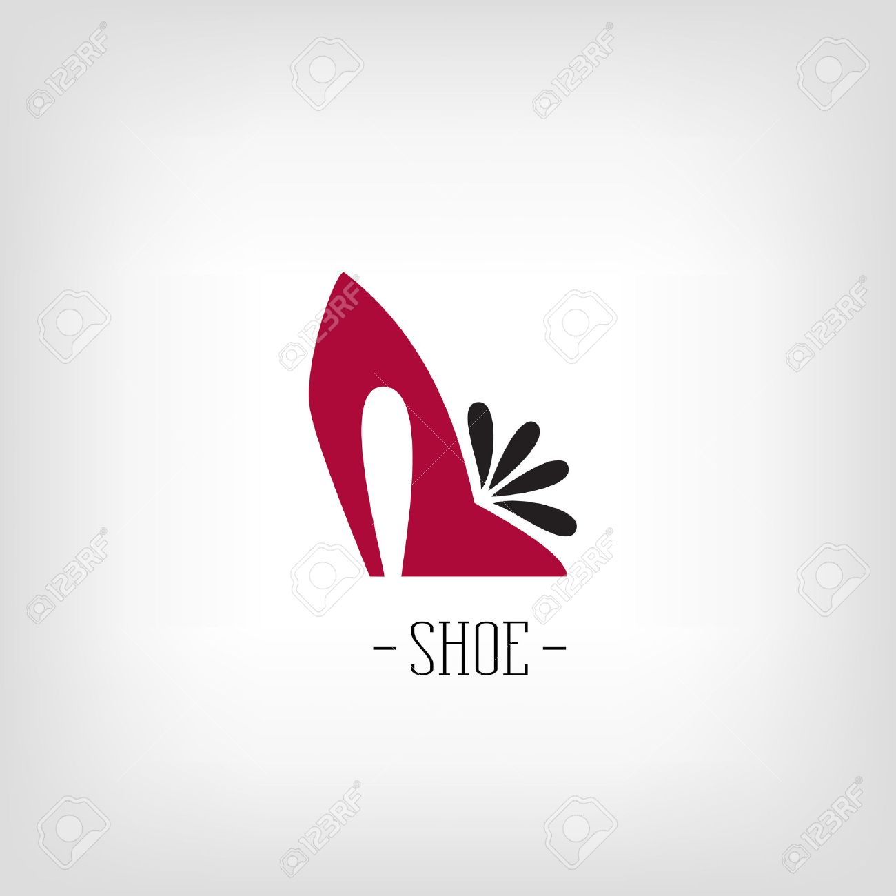 chaussure logo noir rouge femme