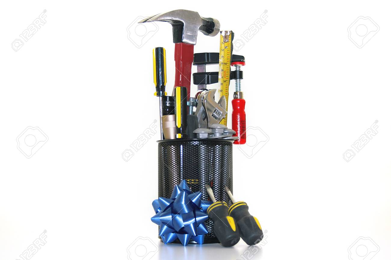 Tools are collected in metal office glass. Stock Photo - 5503681