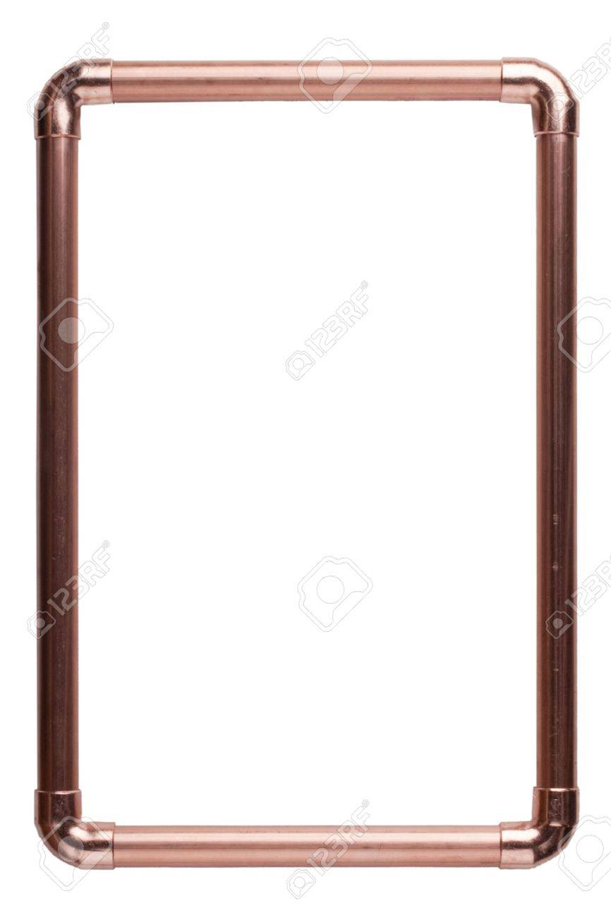 stock photo the frame is made from copper water pipes